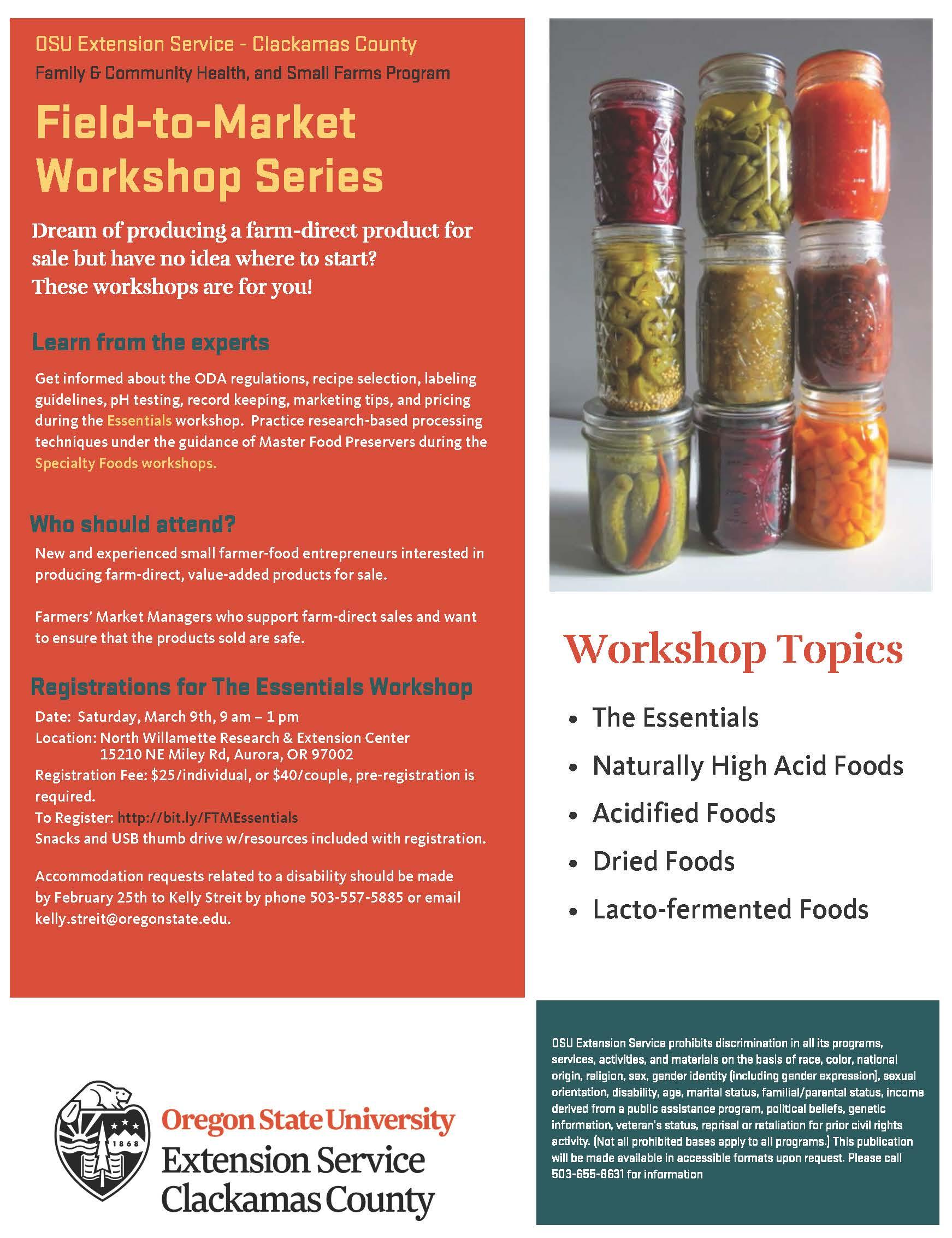 """Field-to-Market """"The Essentials"""" Workshop"""